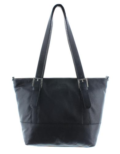 BUZZARD LEATHER BAG BLACK