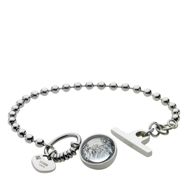 Crysta Ball Bracelet Silver