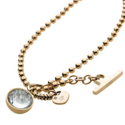 Crysta Ball Necklace Gold