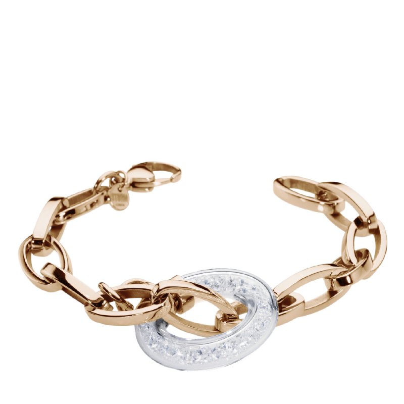 CRYSTA LOOP BRACELET ROSE GOLD - OUTLET