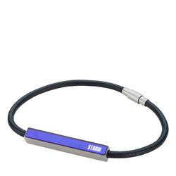 FAZER LEATHER BRACELET LAZER BLUE
