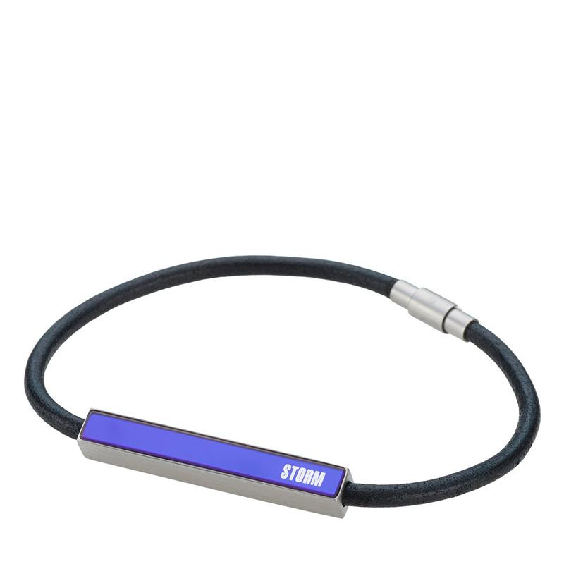 Fazer Leather Bracelet - Lazer Blue