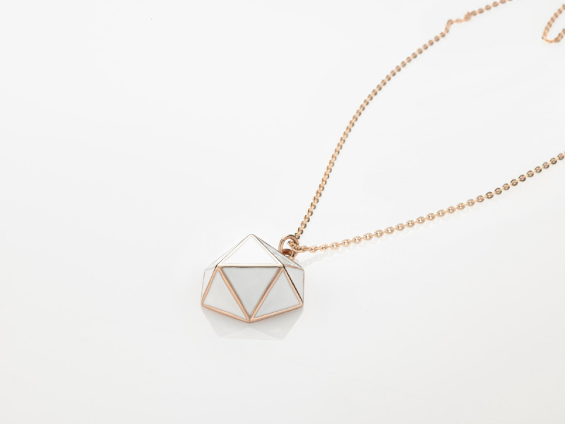 GEO NECKLACE Rose gold