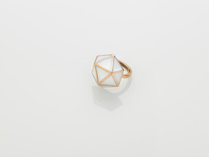 GEO RING Rose gold/L