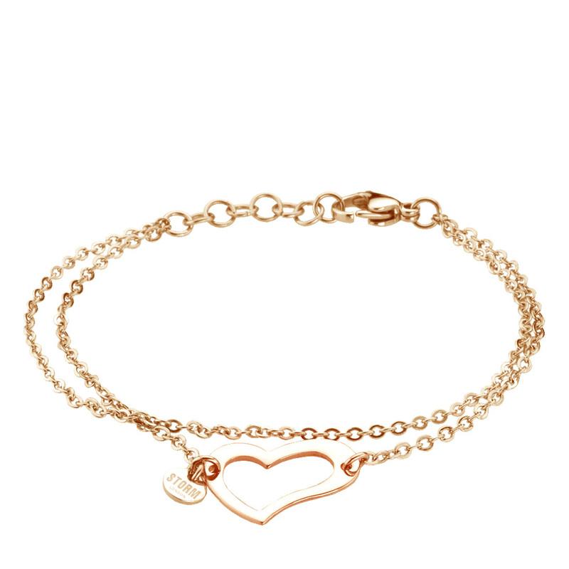 Heart Bracelet Rose Gold