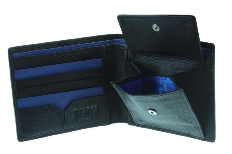 Ryker - Leather Wallet - Black/Blue