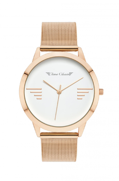 TC BAYSWATER MESH ROSE GOLD