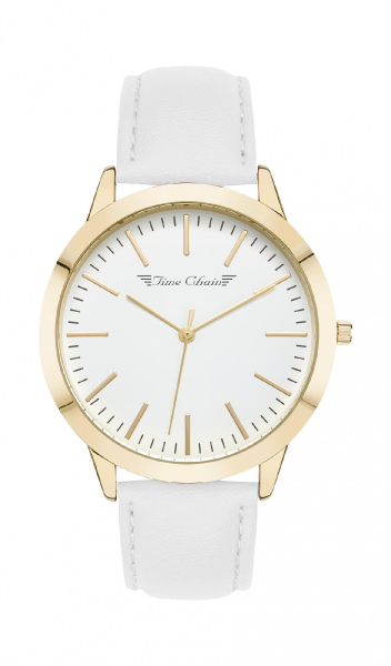 TC MARYLEBONE LEATHER GOLD WHITE