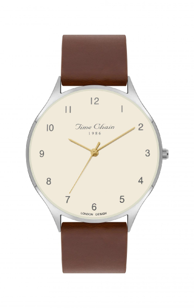 TC STEPNEY LEATHER WHITE/ BROWN