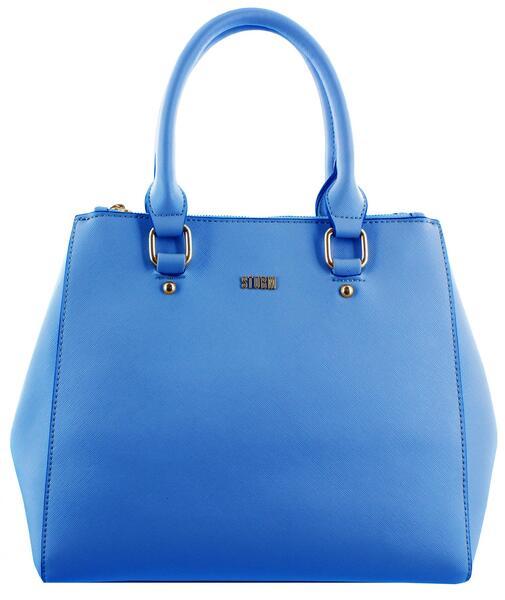 Trafalgar - double zip handbag  - Blue