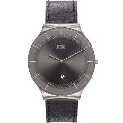 XENU LEATHER GREY BLACK
