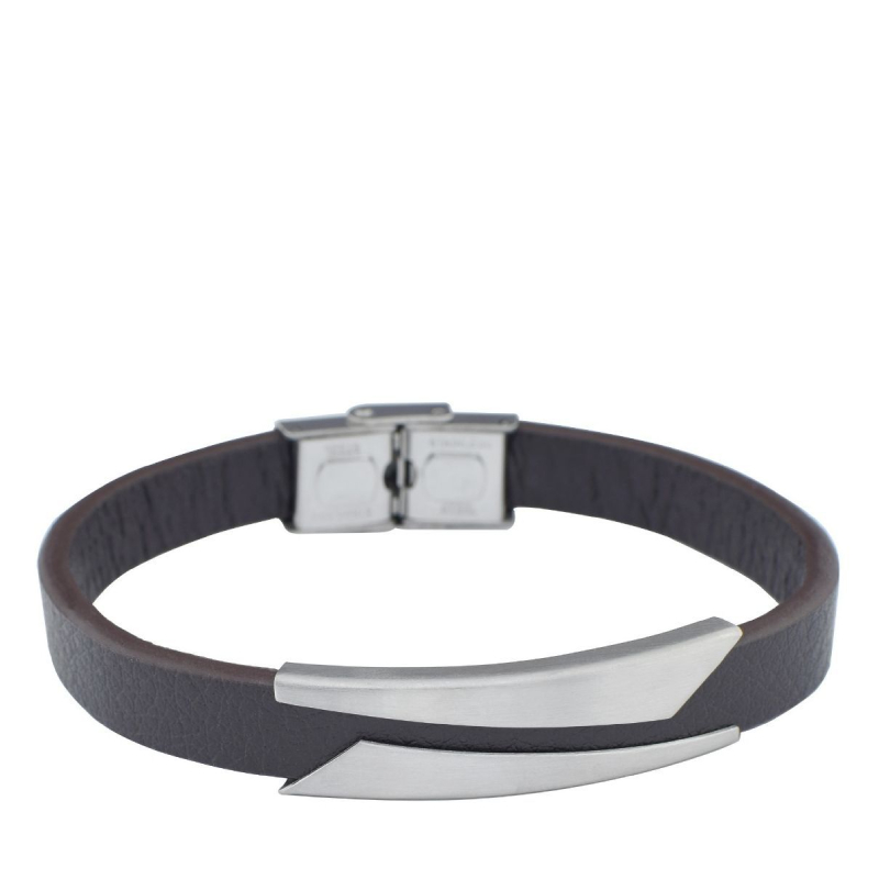 Zain Bracelet - Steel/Brown