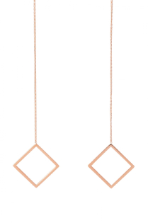 ZU EARRING ROSE GOLD