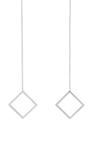 Zu Earring - Silver